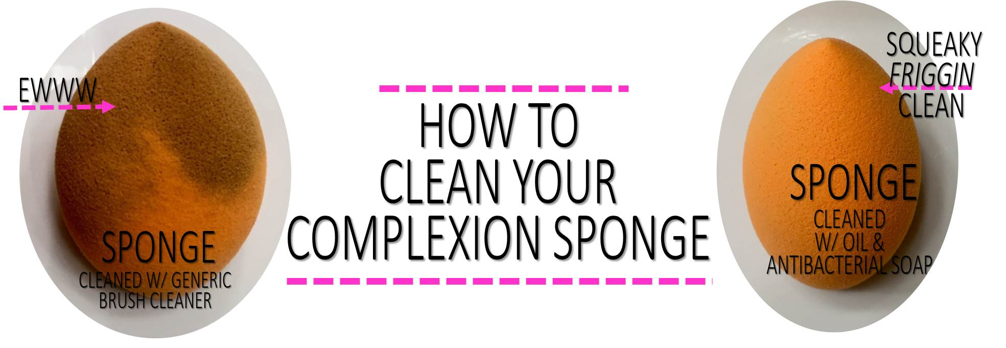 Clean it Up: Two Ingredients to Get your Makeup Sponge Squeaky Clean