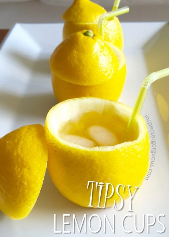 I'll drink to that: Tipsy Lemon Cups