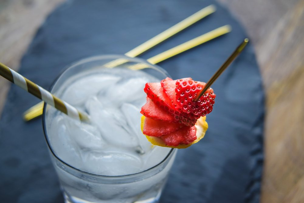 Totally Blitzed {Straw} Berry Cocktail