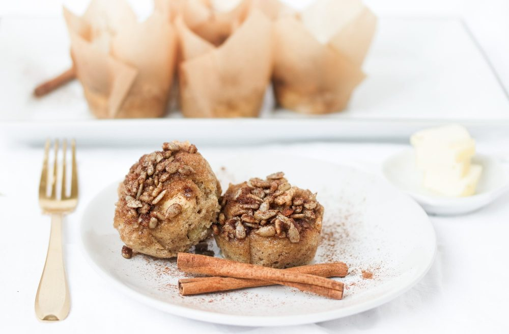 Keto Apple 🍎 Cinnamon Streusel Muffins Made with Zucchini! {GF & Low Carb}