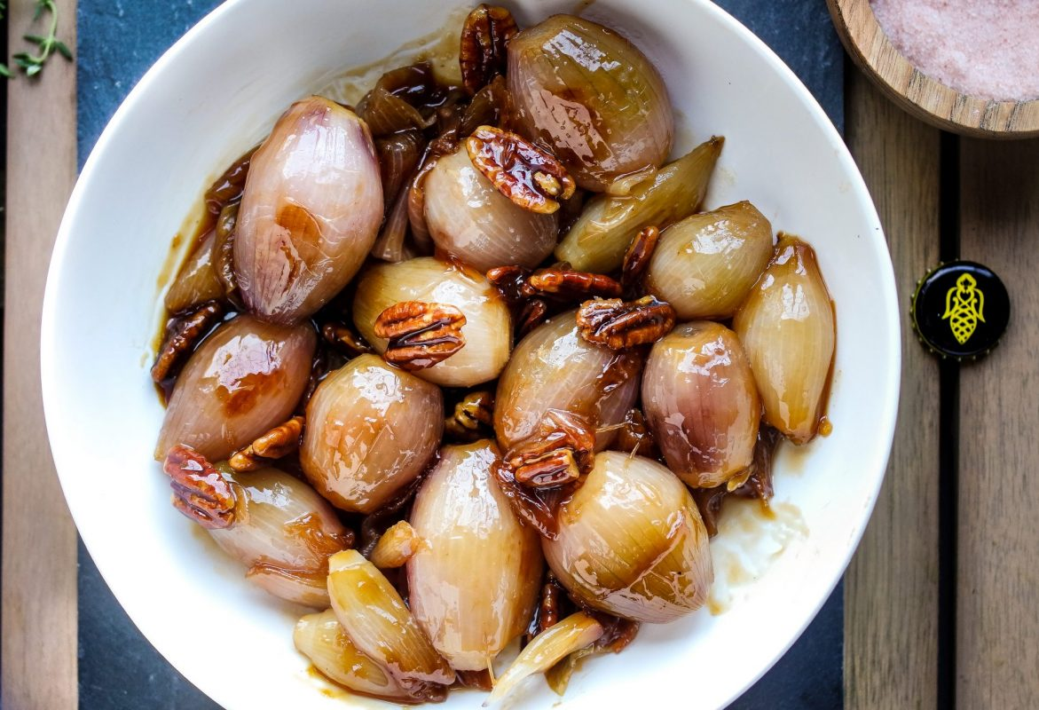 Apple Mead Glazed Shallots 🍾 {Gluten-Free & Low Carb Option}