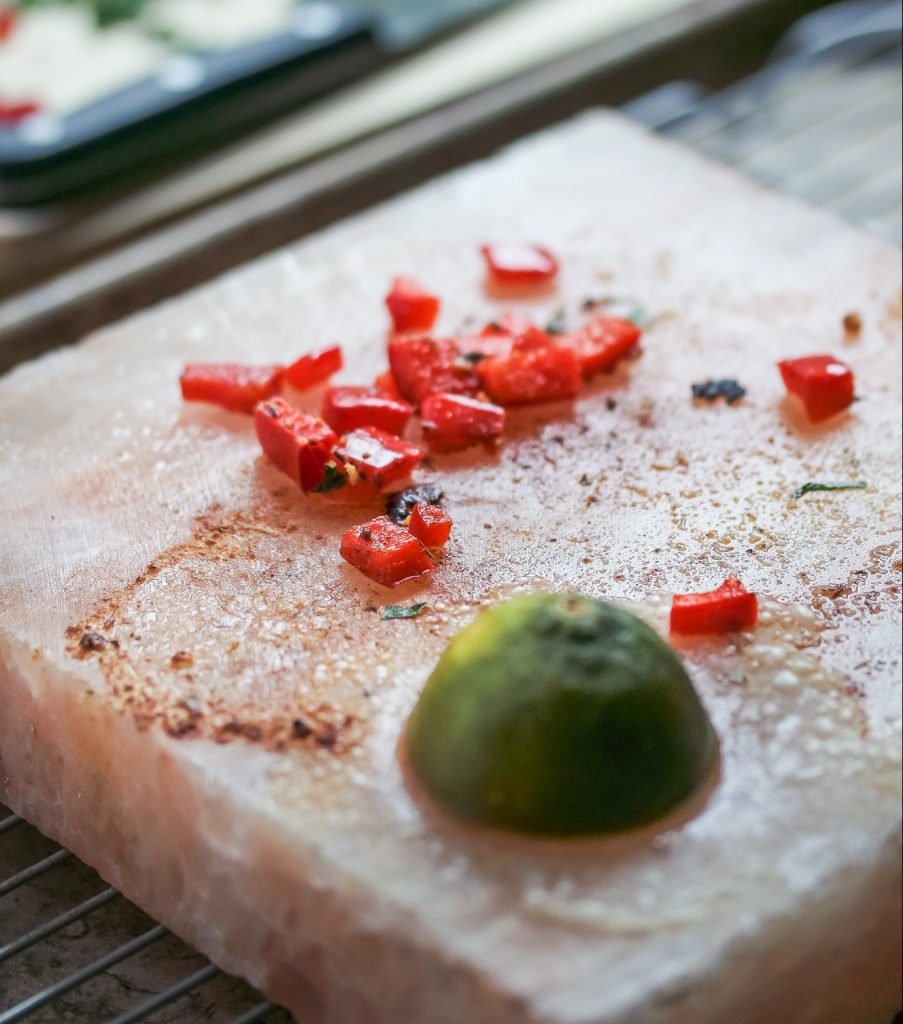 Salt Block Cooking- Coconut Crusted Shrimp-10