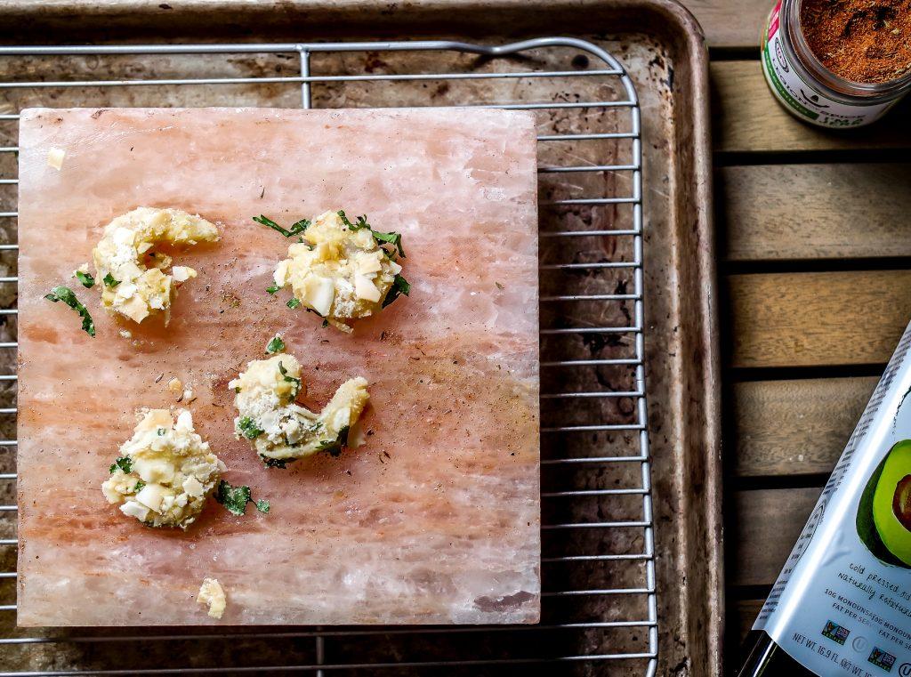 Salt Block Cooking- Coconut Crusted Shrimp-9