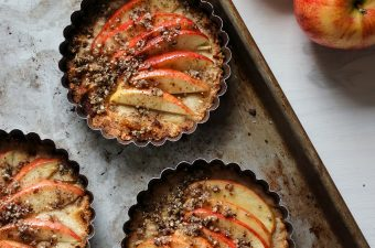 Baked Apple Tartlets with Cinnamon Hemp Seed Crumbles