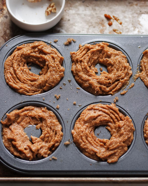 Pumpkin Walnut Crumble Donut
