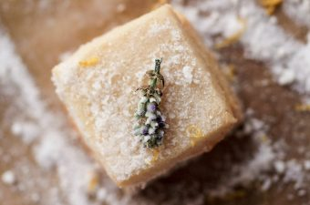 Keto Lavender Shortbread with Lemon Sugar