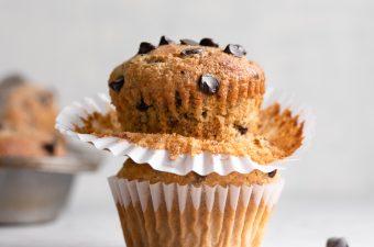 Sugar Free & Keto PB Banana Chocolate Chip Muffins